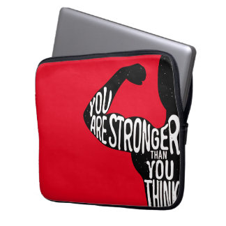 You Are Stronger Than You Think Laptop Sleeve
