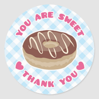 You Are Sweet Chocolate Donut Thank You Sticker