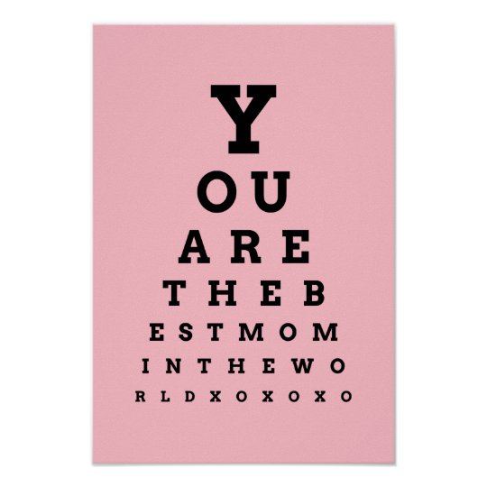 You are the best mum in the world eye chart poster