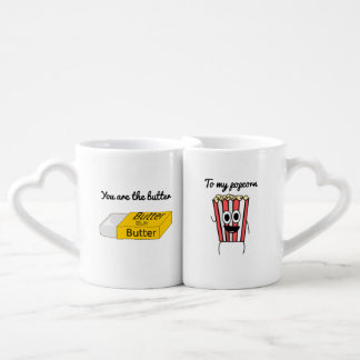 You are the butter to my popcorn coffee mug set