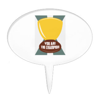 You Are The Champion Cake Pick