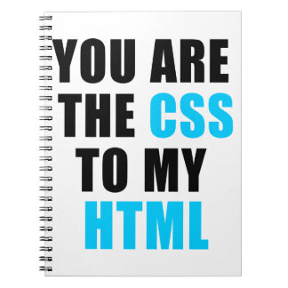 You are the CSS to my HTML Notebooks
