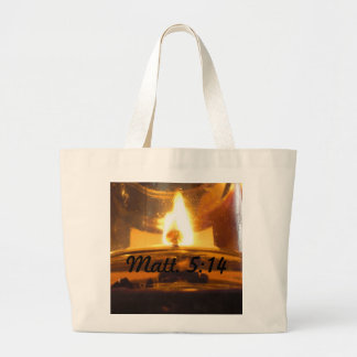 You are the Light of the World Jumbo Tote Bag