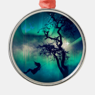 You Are the Light Turquoise Silver-Colored Round Decoration