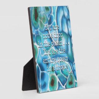 You Are the Ocean - Larimar Plaque