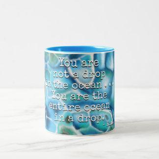 You Are the Ocean - Larimar Two-Tone Coffee Mug