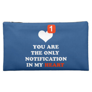 you are the only notification in my heart cosmetic bags