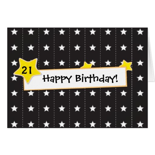 You are the star Happy birthday greeting card