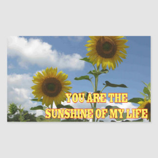 You Are The Sunshine of My Life Rectangular Sticker