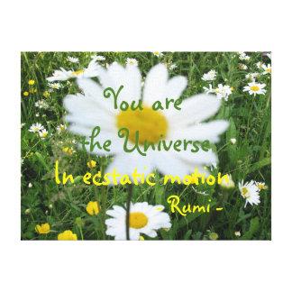 You are the Universe, Rumi wisdom Canvas Print