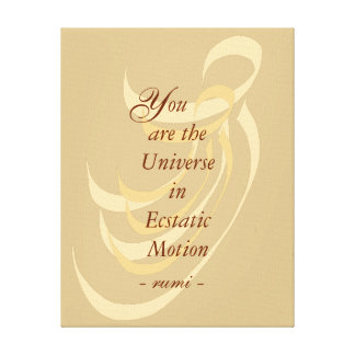 You are the Universe Rumi wisdom Gallery Wrapped Canvas