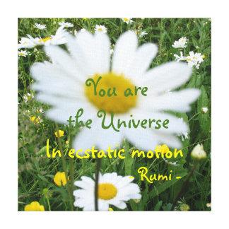 You are the Universe, Rumi wisdom Canvas Prints