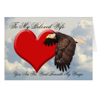 YOU ARE THE WIND BENEATH MY WINGS GREETING CARD