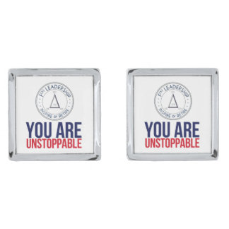 You are Unstoppable Cuff links Silver Finish Cuff Links