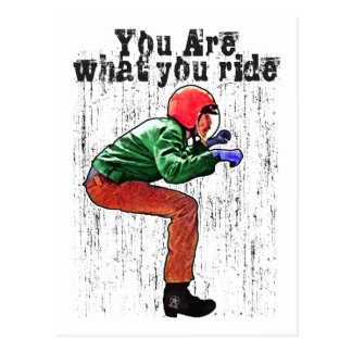 You Are What You Ride - Motorcycle Style Status Postcard