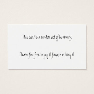 You are Wonderful! Random Act of Humanity Cards