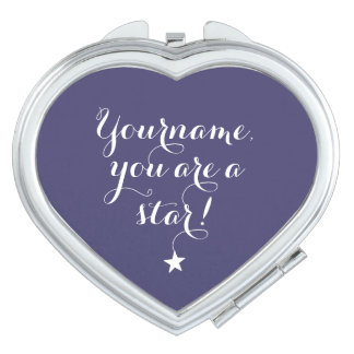 YOU AREA STAR custom name & colour pocket mirror Vanity Mirrors