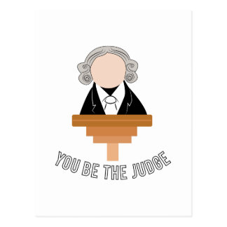You Be The Judge Postcard