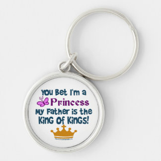 You Bet I'm a Princess Silver-Colored Round Key Ring