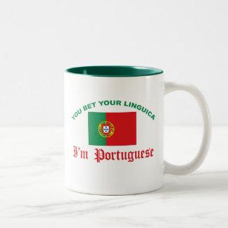 You Bet Your Linguica Two-Tone Mug