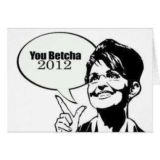 You betcha 2012 card