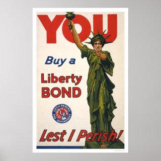 You--Buy a Liberty Bond--Lest I Perish! Poster