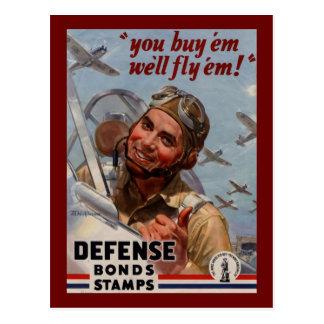 """You Buy 'em and We'll Fly 'em"""" Postcard"""
