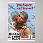 You Buy 'em We'll Fly 'em -- WW2 Poster -- Border