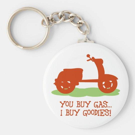 You Buy Gas, I Buy Goodies Basic Round Button Key Ring