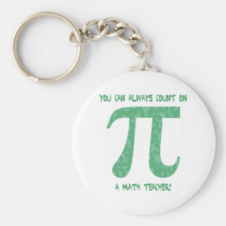You Can Always Count on A Math Teacher Basic Round Button Key Ring
