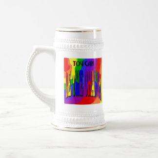 You Can Be the Change Rainbow Stein Coffee Mug