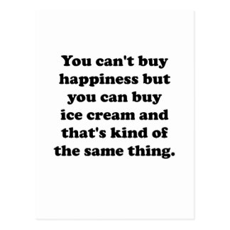 You Can Buy Ice Cream Postcard