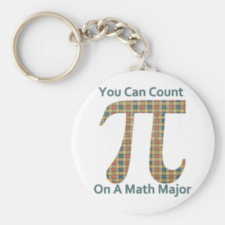 You Can Count on A Math Major Basic Round Button Key Ring