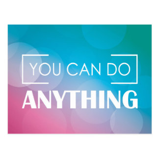 You Can Do Anything Postcard
