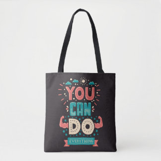 You Can Do Everything Colorful Tote Bag