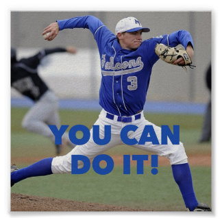 You Can Do It! - Baseball Motivational Poster