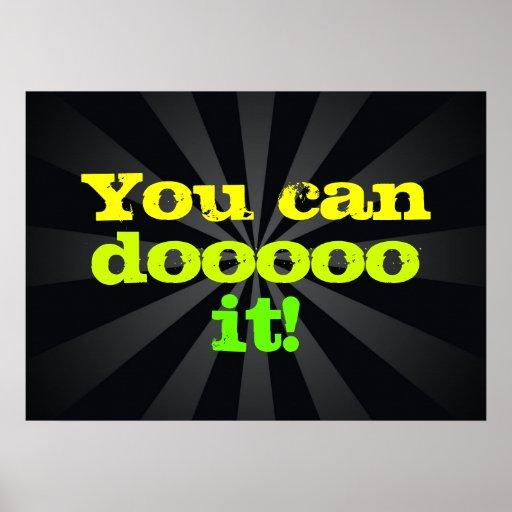 You can doooo it! Motivational Print