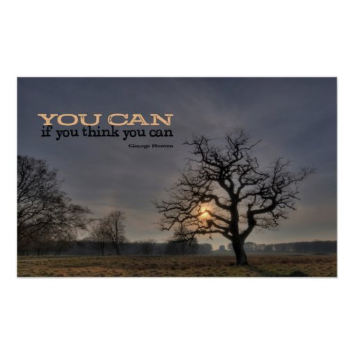 You Can Motivational Poster Print