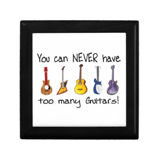 You can NEVER have too many guitars gifts Gift Box