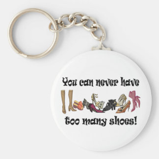 You can never have too many shoes T-shirts. Basic Round Button Key Ring