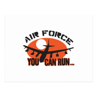 You Can Run Airforce Post Card