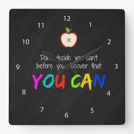 You can square wall clock