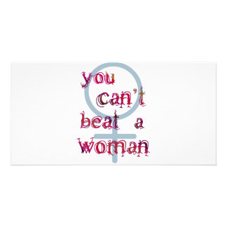 You Can t Beat a Woman Personalized Photo Card