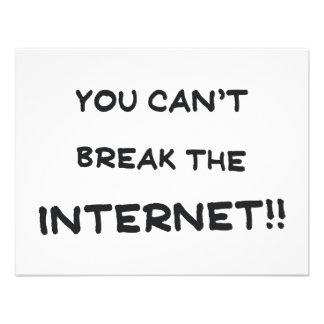 You can t break the internet custom invitation