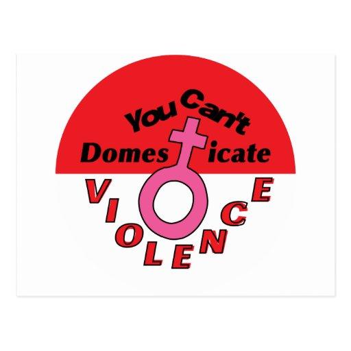 You Can't Domesticate Violence - Feminist Design Postcard