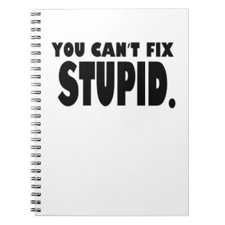 You can t fix stupid notebook