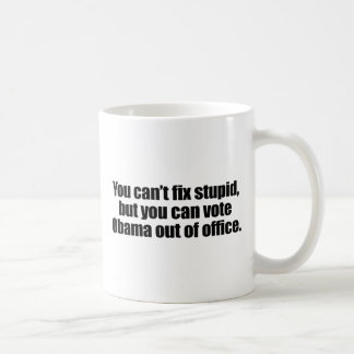 YOU CAN T FIX STUPID png Coffee Mugs