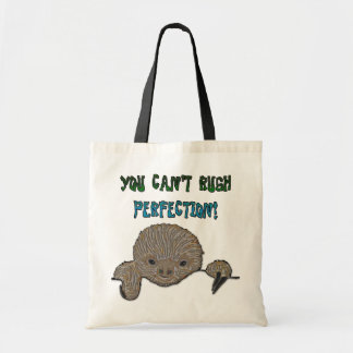 You Can t Rush Perfection Baby Sloth Canvas Bags