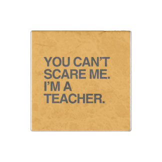YOU CAN T SCARE ME I M A TEACHER - Halloween Stone Magnet