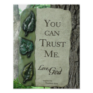 You Can Trust Me, Love God, Poster